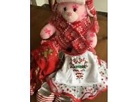 Winter build a bear with accessories