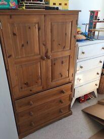 Children's pine wardrobe