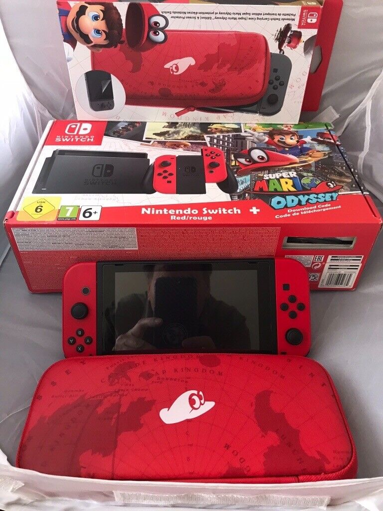 Ltd Edition Nintendo Switch Super Mario Odyssey Rare Boxed In Switchsuper