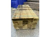 •New• Pressure Treated Wooden/ Timber Railway Sleepers