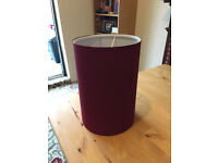 Wine coloured light shade