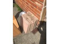 9 Pink Flagstones 40cmx40cm