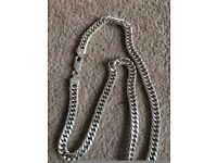 Men's Silver Thick Chain Necklace