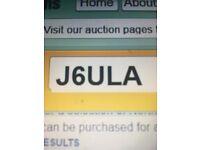 "Private registration plate ""J6 ULA """
