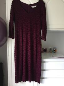 'Damsel in a dress' plum bodycon size 14