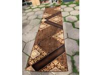 Brand New brown runner rug size 320 x 60 Cm hallway corridor passage rug carpet £40