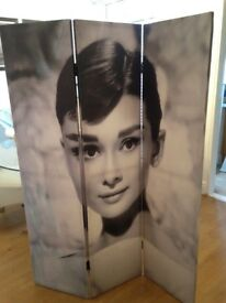 Room divider / screen - Audrey Hepburn