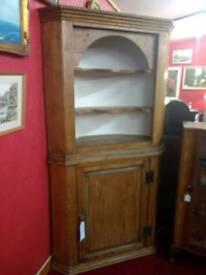 Old Pine Corner Cupboard