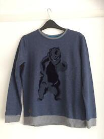 Boys M&S navy sweatshirt with bear logo age 11-12 years