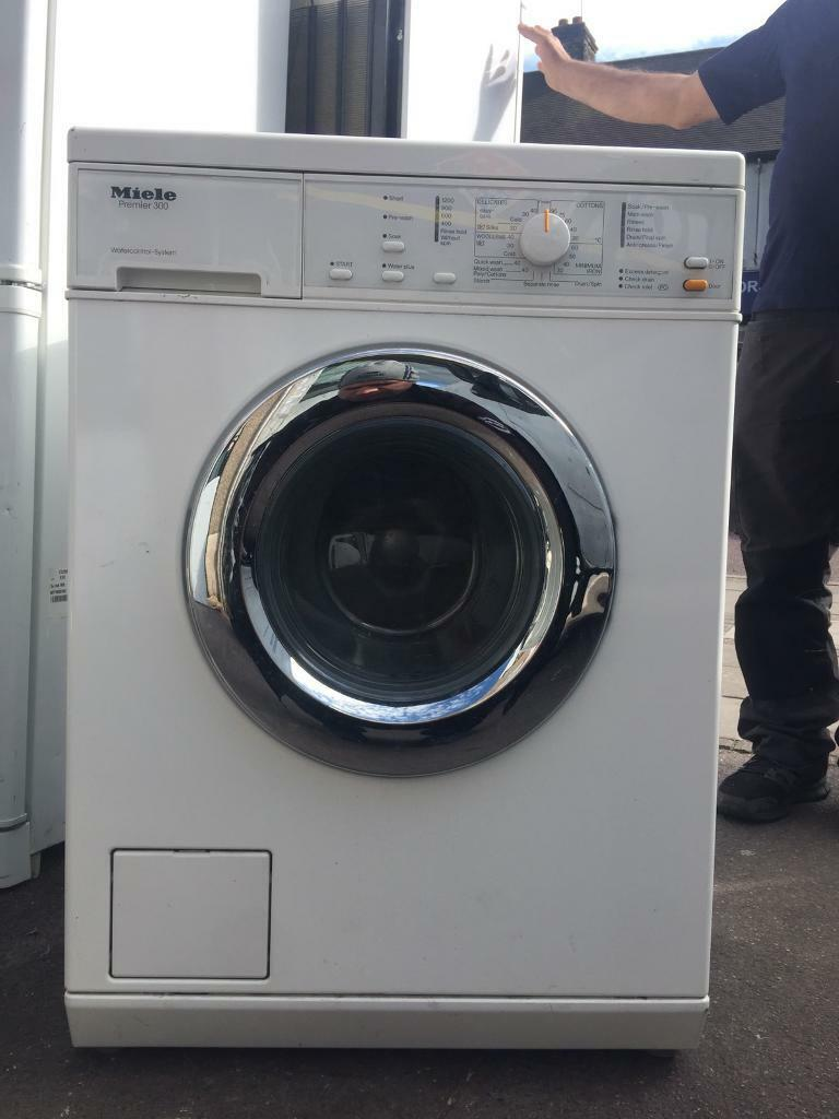 Miele premier 500 washing machine 100% working with Warrantyin Romford, LondonGumtree - 6 months registered Warranty from a well known appliances company Properly tested by well qualified engineer Free delivery and installation ( terms conditions apply)Free removal of old one Made of metal and stain less steel, the only w/m using such...