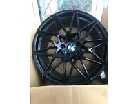 """BMW M4 Competition 666m Style Alloy Wheels 5x120 20"""" staggered"""