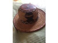 Vintage cowboy girl hat