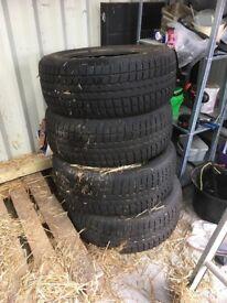 4 winter tyres 255/55R18