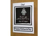 Handmade Stormtrooper Father's day card