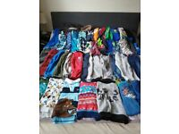 Used boy clothes 3-4 and 4-5 shoes size 9
