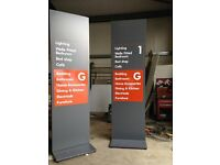 FREESTANDING DOUBLE SIDED SIGNS HEAVY DUTY