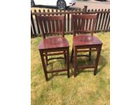 Dark oak breakfast bar chairs stools kitchen