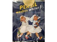 Blue Vintage 'Persil' Advert Peg Bag *BNWT*