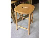 Modern elm seated stool