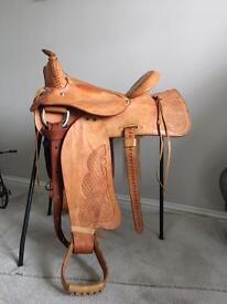 Beautiful Western saddle - unused