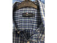 Men's Checked Blue (XL) Shirt