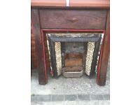 2x victorian fire place with tiles.
