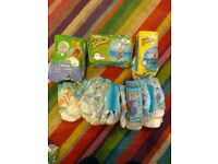 Swimming nappies size 2-3 and 3-4 (43 in total)