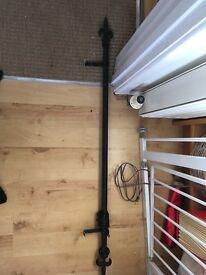 Black curtain pole gothic style