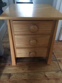 Solid wood (cypress) handmade children's bedside table