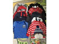 Bundle of boys long sleeve t-shirts age 2-3 mainly Next