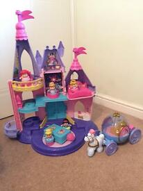 Fisher Price little people castle and Cinderella carriage
