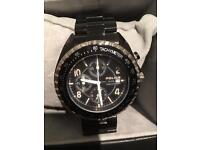 Men's black police watch