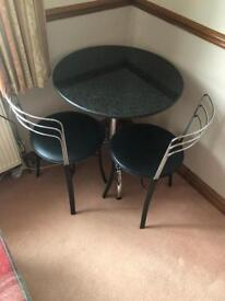 John Lewis marble top table and 2 chairs