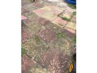 Patio paving slabs good condition