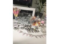 Large Candy Buffet/Cart Bundle - jars, scoops, bunting, sweets etc for Weddings or Parties