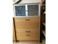 Ikea Office Storage Cupbord, Oak Veneered