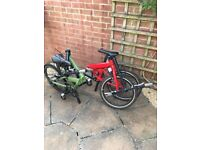 2x Fold-up bikes, barely used