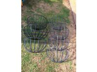 7 Black rail baskets