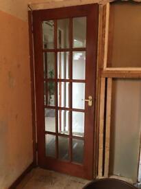 2 internal glass panel doors