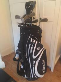 Wilson Golf Clubs and Bag