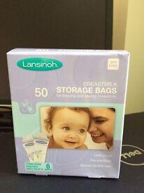 Lansinoh 50 x Breastmilk Storage Bags (NEW)