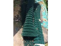 for sale, green chain link fence / fencing