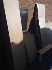 Bedroom double door wardrobes and cupboard