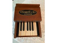 Rare Dummy piano keyboard Chappell & Co London late 19th century antique vintage