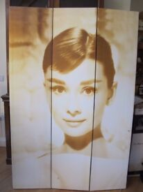 Audrey Hepburn 3 Fold/Panel Door Screen/Room Divider/Privacy