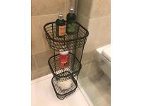 Freestanding 3-Tier Bathroom or In-Shower Storage Shelves