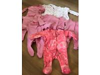Girls tiny baby clothes bundle