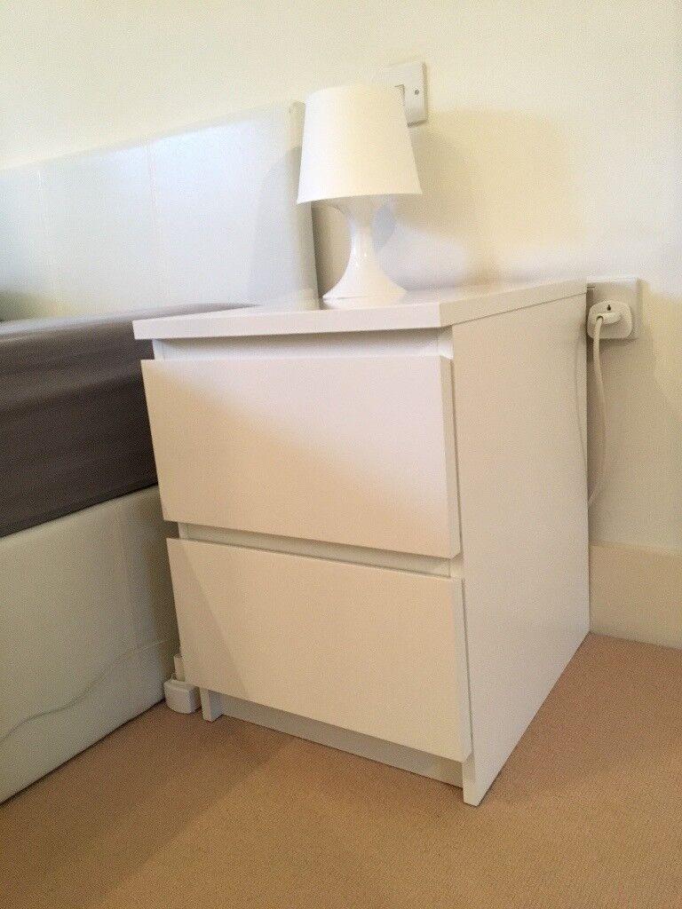 2x Chest Of 2 Drawers Kullen White Ikea In Wimbledon