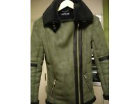 ladies size 6 /or age 15/16 olive green flying jacket