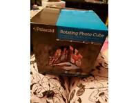 Polaroid rotating photo cube